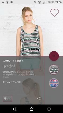 Cambia el color, lee la descripción y comparte las prendas que más te gusten